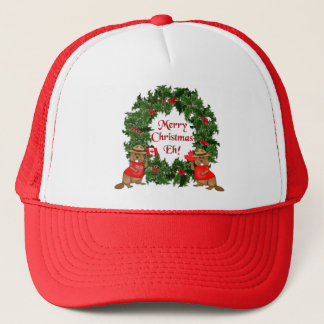 Canadian Christmas Trucker Hat