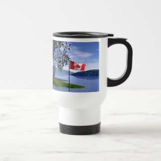 Canadian Colours Stainless Steel Travel Mug