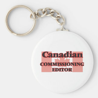 Canadian Commissioning Editor Basic Round Button Key Ring