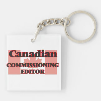 Canadian Commissioning Editor Double-Sided Square Acrylic Key Ring