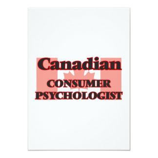 Canadian Consumer Psychologist 13 Cm X 18 Cm Invitation Card