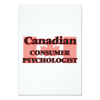 Canadian Consumer Psychologist 9 Cm X 13 Cm Invitation Card