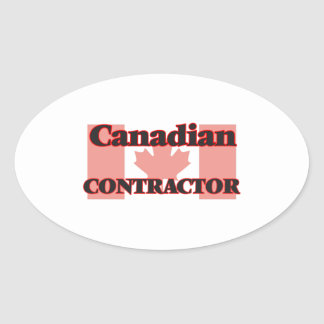 Canadian Contractor Oval Sticker