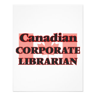 Canadian Corporate Librarian 11.5 Cm X 14 Cm Flyer