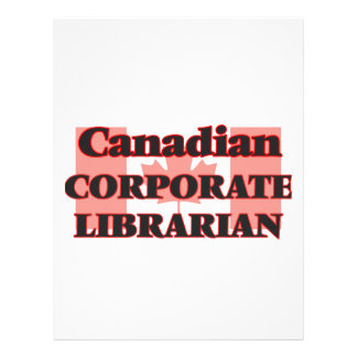Canadian Corporate Librarian 21.5 Cm X 28 Cm Flyer