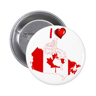 Canadian country flag 6 cm round badge