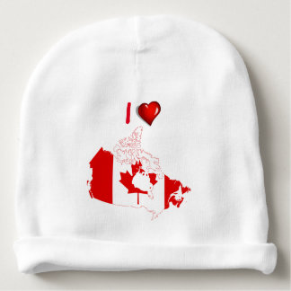 Canadian country flag baby beanie