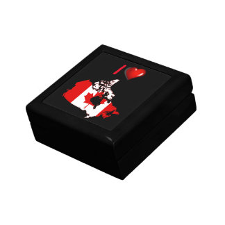 Canadian country flag gift box
