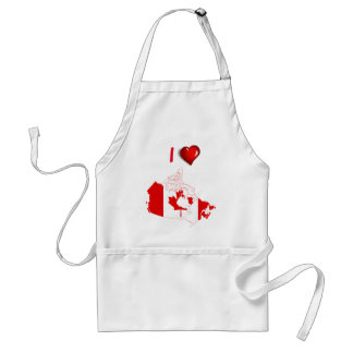 Canadian country flag standard apron