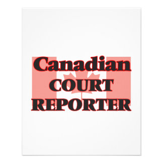 Canadian Court Reporter 11.5 Cm X 14 Cm Flyer