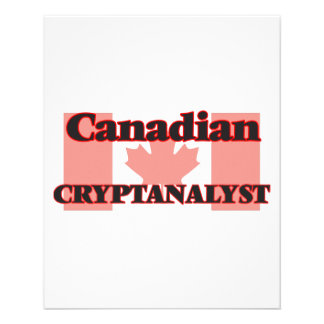 Canadian Cryptanalyst 11.5 Cm X 14 Cm Flyer