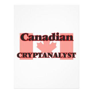 Canadian Cryptanalyst 21.5 Cm X 28 Cm Flyer