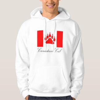 Canadian Cub Canadian Flag Red Bear Paw Hoodie