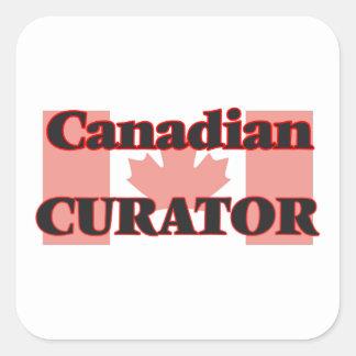 Canadian Curator Square Sticker