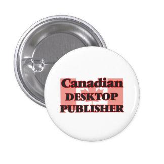 Canadian Desktop Publisher 3 Cm Round Badge