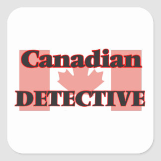 Canadian Detective Square Sticker