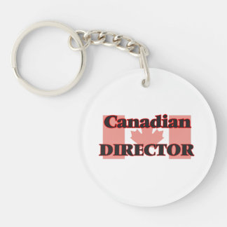 Canadian Director Single-Sided Round Acrylic Key Ring