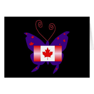 Canadian Diva Butterfly Greeting Card