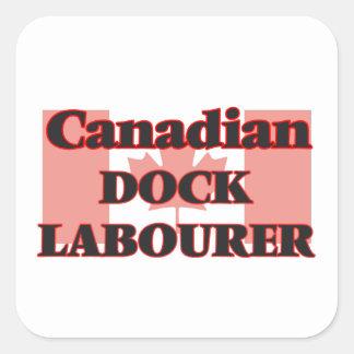 Canadian Dock Labourer Square Sticker