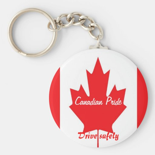 Canadian drive safely keychains