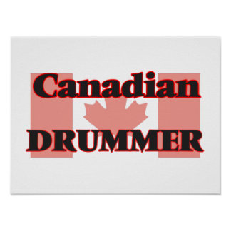 Canadian Drummer Poster
