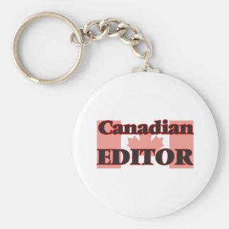 Canadian Editor Basic Round Button Key Ring