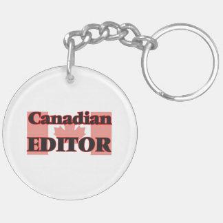 Canadian Editor Double-Sided Round Acrylic Key Ring