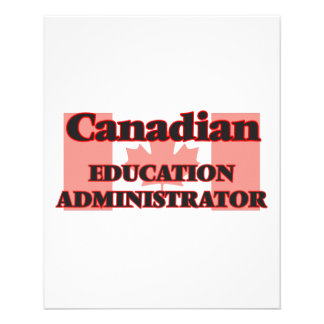 Canadian Education Administrator 11.5 Cm X 14 Cm Flyer