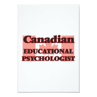 Canadian Educational Psychologist 9 Cm X 13 Cm Invitation Card