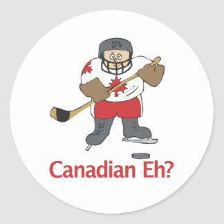 Canadian Eh? Classic Round Sticker