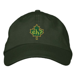 Canadian Eh? Embroidery Maple Leaf Baseball Cap