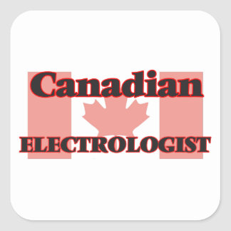 Canadian Electrologist Square Sticker