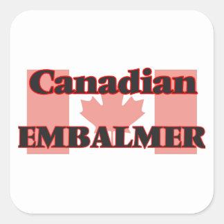 Canadian Embalmer Square Sticker