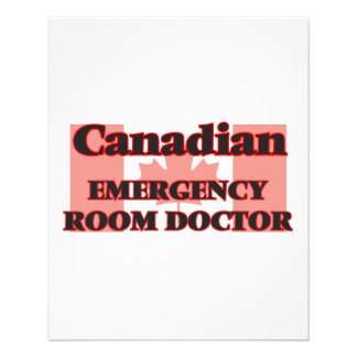 Canadian Emergency Room Doctor 11.5 Cm X 14 Cm Flyer