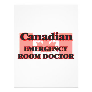 Canadian Emergency Room Doctor 21.5 Cm X 28 Cm Flyer