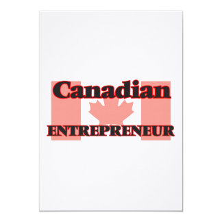 Canadian Entrepreneur 13 Cm X 18 Cm Invitation Card