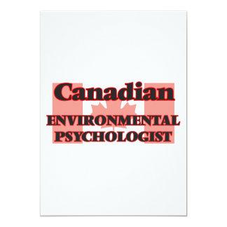 Canadian Environmental Psychologist 13 Cm X 18 Cm Invitation Card