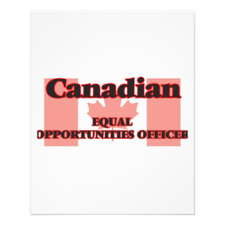 Canadian Equal Opportunities Officer 11.5 Cm X 14 Cm Flyer