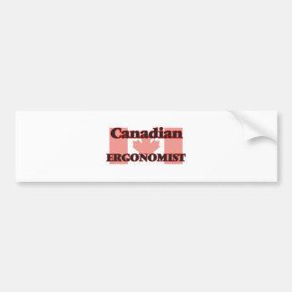 Canadian Ergonomist Bumper Sticker
