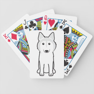 Canadian Eskimo Dog Cartoon Bicycle Card Decks
