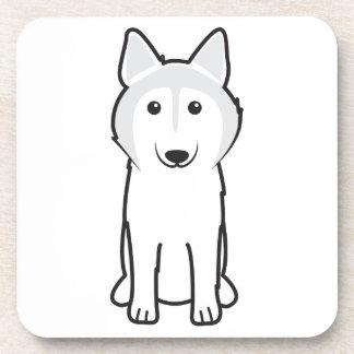 Canadian Eskimo Dog Cartoon Coaster