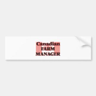 Canadian Farm Manager Bumper Sticker
