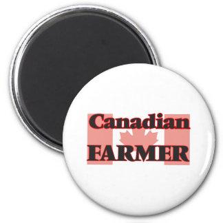 Canadian Farmer 6 Cm Round Magnet