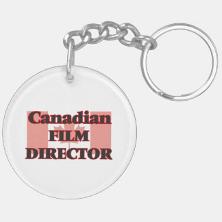 Canadian Film Director Double-Sided Round Acrylic Key Ring