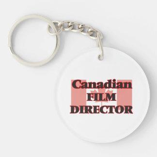 Canadian Film Director Single-Sided Round Acrylic Key Ring