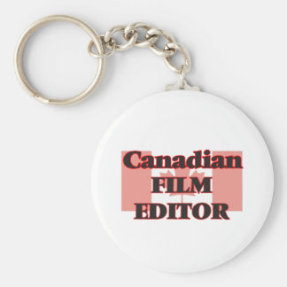 Canadian Film Editor Basic Round Button Key Ring