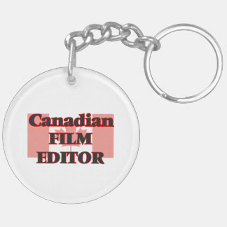 Canadian Film Editor Double-Sided Round Acrylic Key Ring
