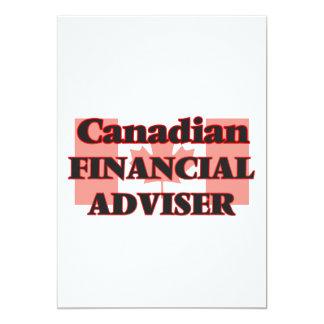 Canadian Financial Adviser 13 Cm X 18 Cm Invitation Card