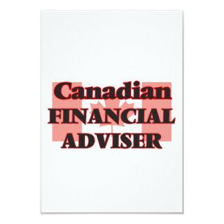 Canadian Financial Adviser 9 Cm X 13 Cm Invitation Card