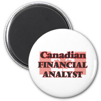Canadian Financial Analyst 6 Cm Round Magnet